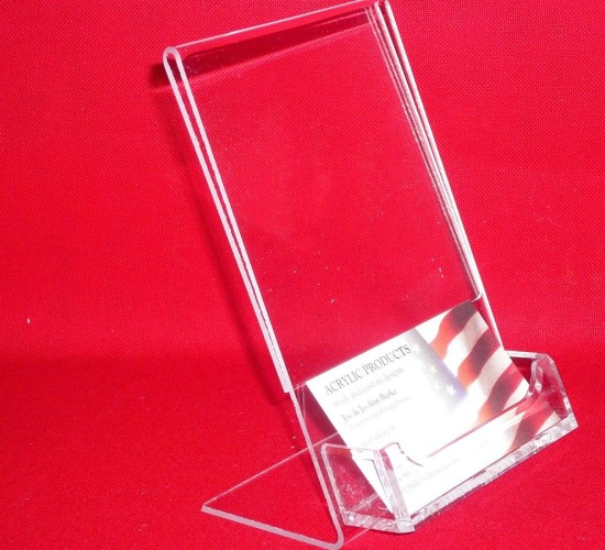 Slantback Picture Frame With Business Card Holder 1