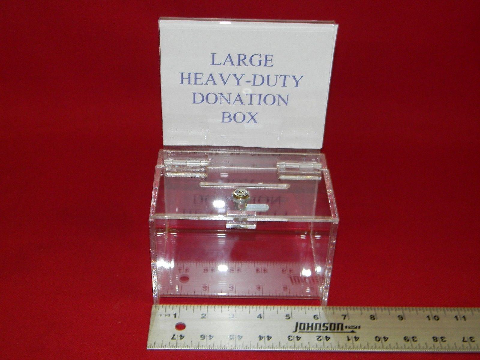 Large Donation Box Acrylics N Moore