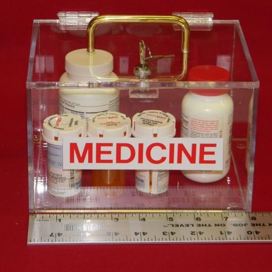 Large Medicine Lock Box 2
